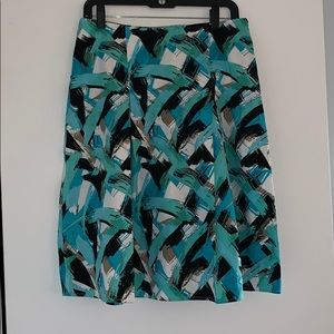 Paint pattern midi skirt